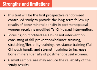 Effect of a long-term modified Tai Chi-based intervention in